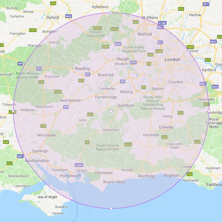 map around south England